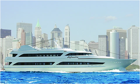 The Atlantis 100 Foot Yacht Rental For Private Dinner