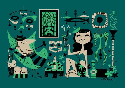Ilustración de Derek Yaniger. Lowbrow art.