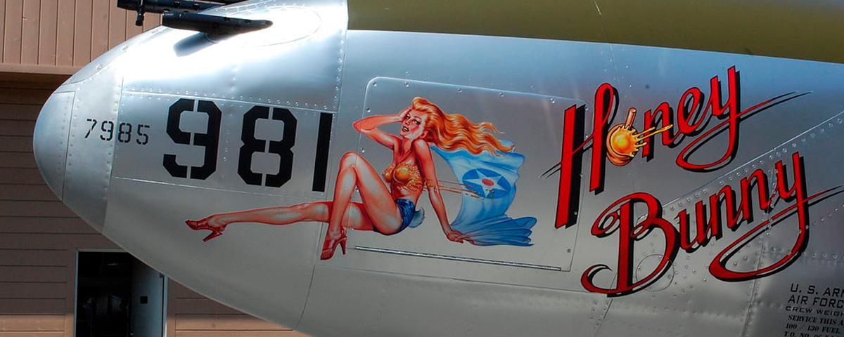 Nose-art. Pin-up y lettering en un avión de la Primera Guerra Mundial