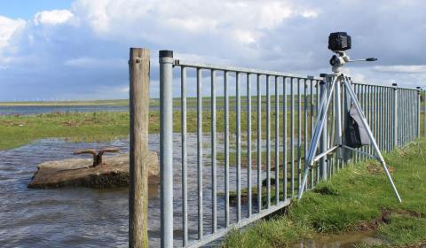 De pinholecamera aan het werk bij 'The Making Of' in Noordpolderzijl