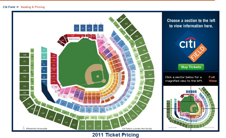 2011 citi field seating chart the mets police