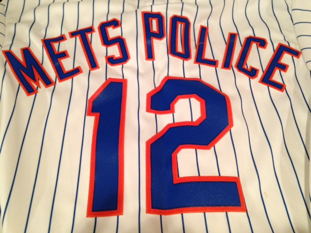 mets metspolice 12 jersey new mets home uniform