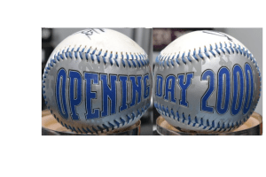 Mets Opening Day 2000 baseball pan