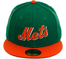 orange and green mets cap