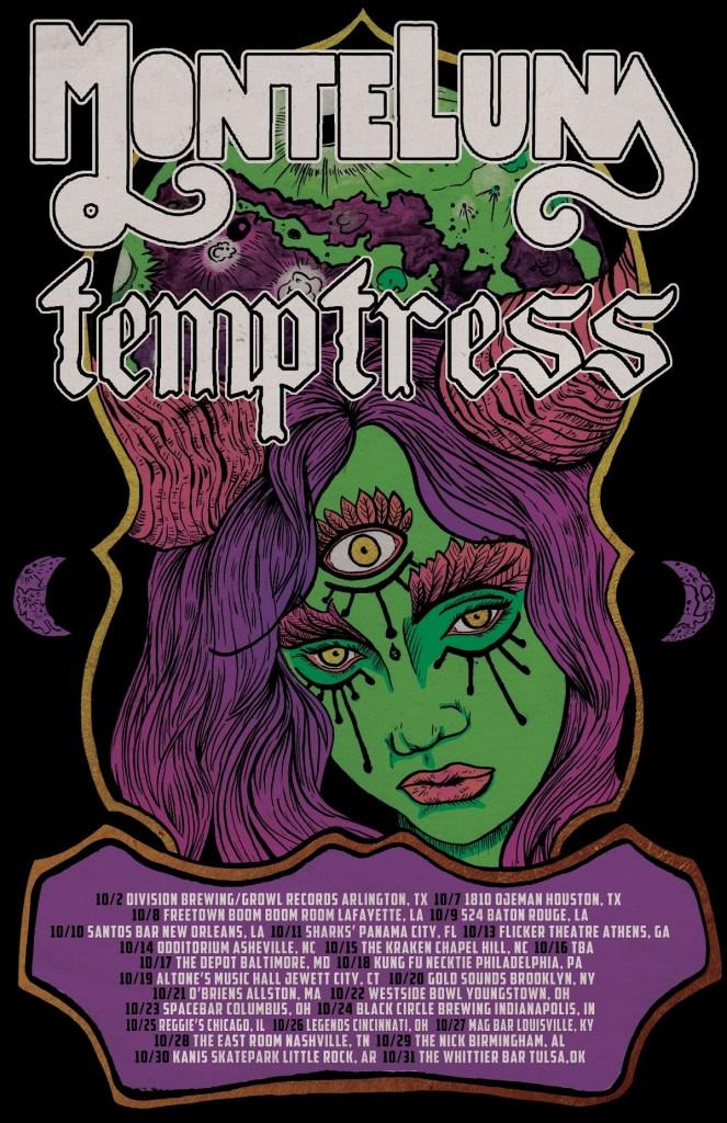 Monte Luna Temptress Tour 2021 Poster