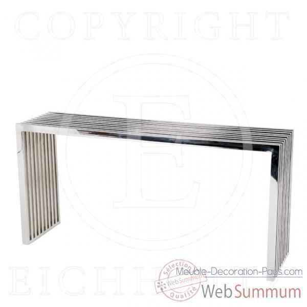 eichholtz table console carlisle acier inoxydable tbl05341