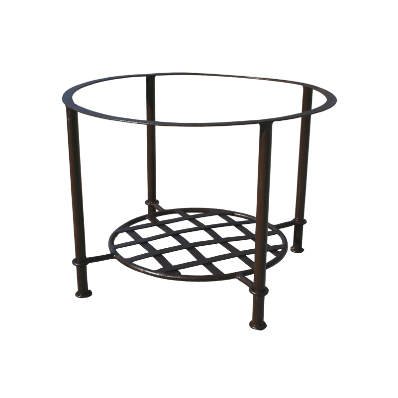 pietement table fer forge basse rond etagere