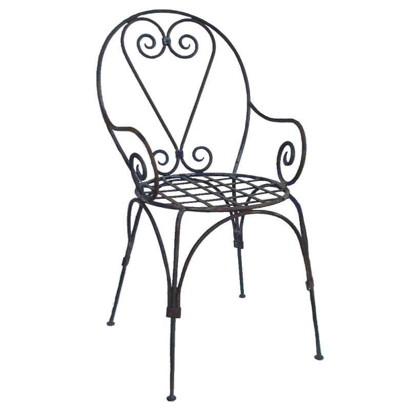 fauteuil fer forge italien