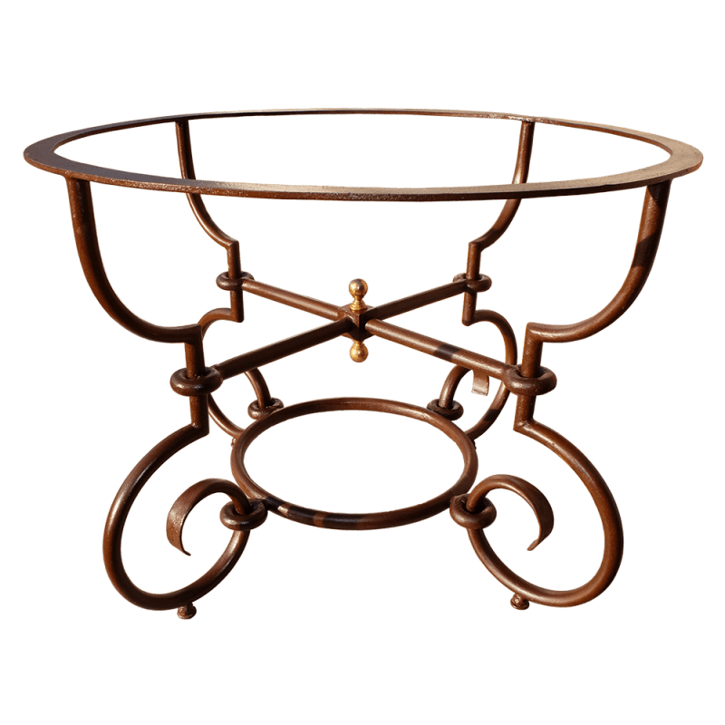 pied table fer forge rond miami