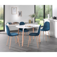 chaise scandinave tissu bleu scano