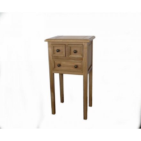 petit meuble chene massif 3 tiroirs campagnol