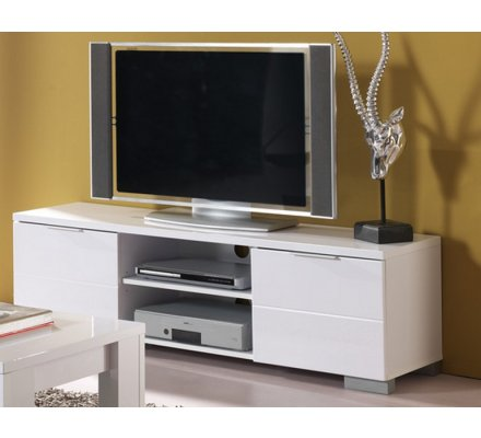 meuble tv laque blanc bloom
