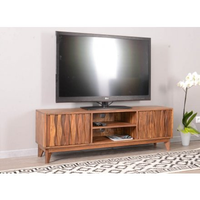 meuble tv en bois massif vintage madras