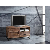 petit meuble tv 118 cm metal et bois urban metal