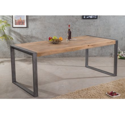 table industrielle metal et bois 200 new york