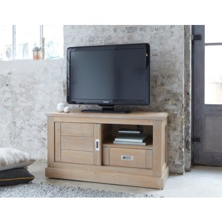 meuble tele bas chene massif bella