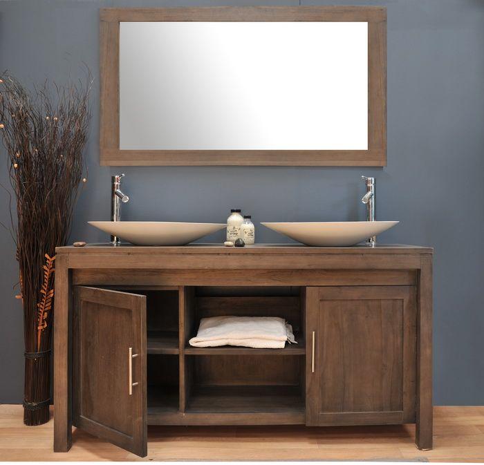 meuble salle bain teck fr