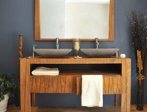 meuble de salle de bain en teck saniteck