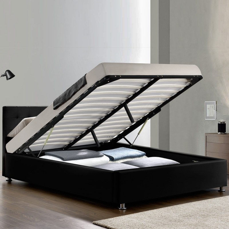 excellent lit complet sommier relevable tte de lit cadre de lit capitole with lit sommier relevable