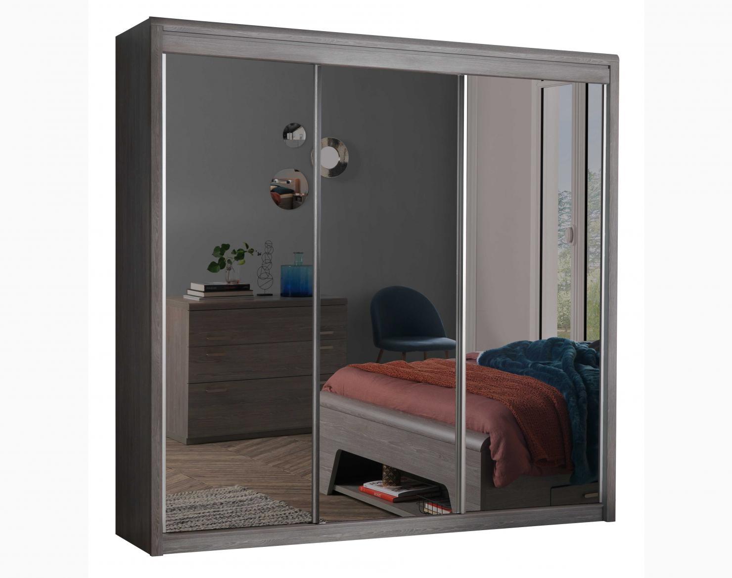 armoire 3 portes coulissantes miroirs
