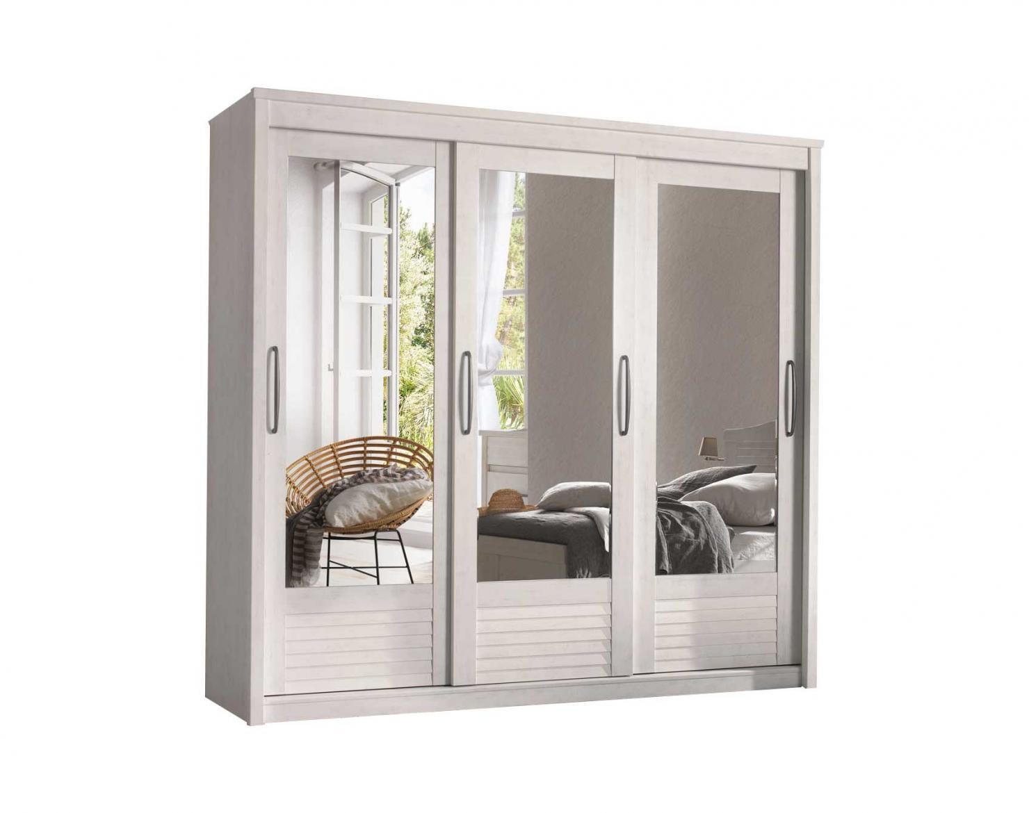 armoire 3 portes coulissantes miroirs biseautes