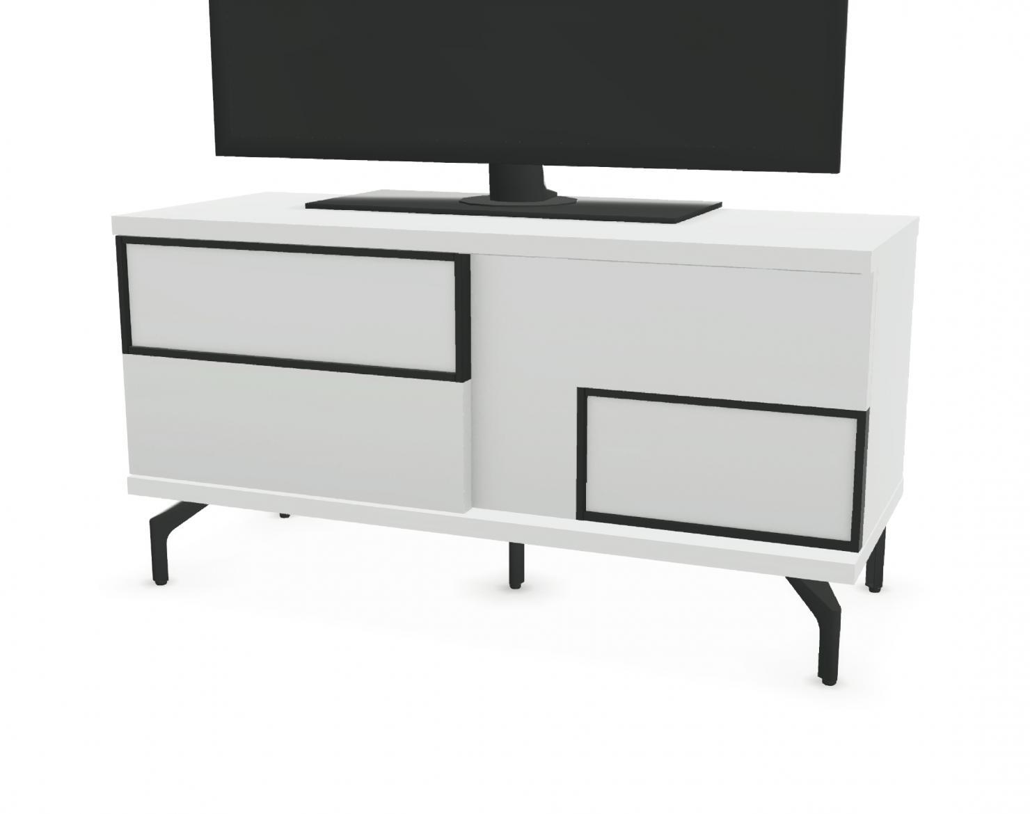 meuble tv 2 portes coulissantes facade bois
