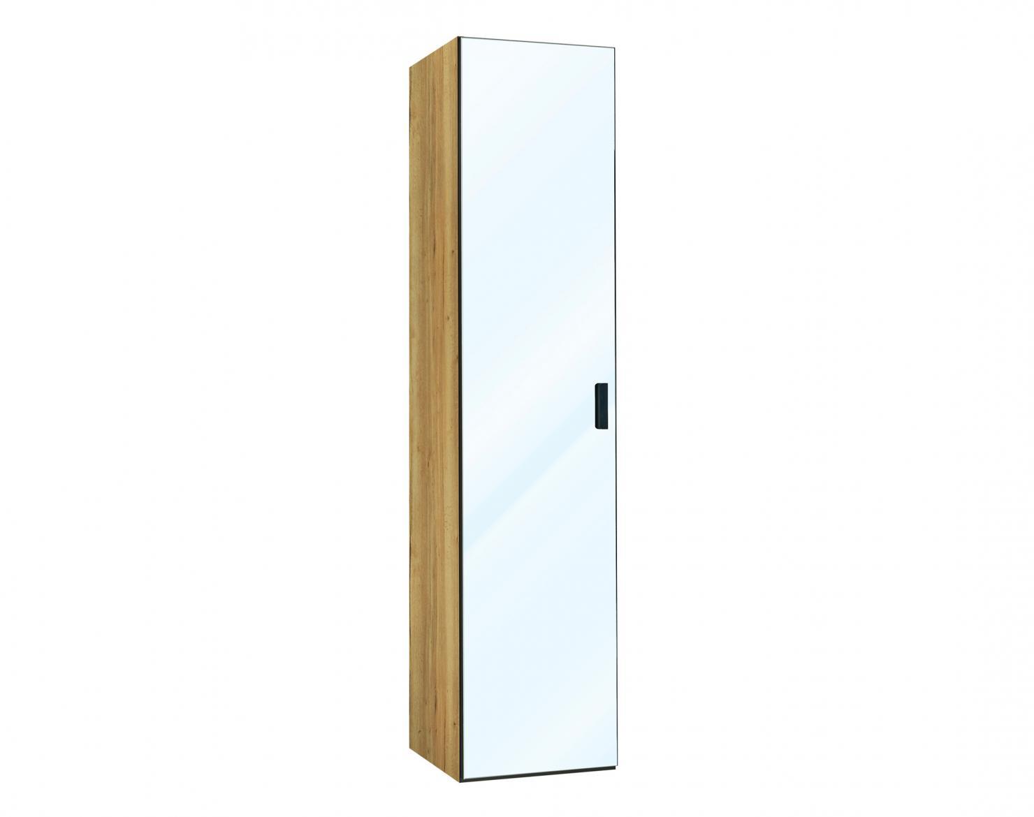 armoire 1 porte battante miroir