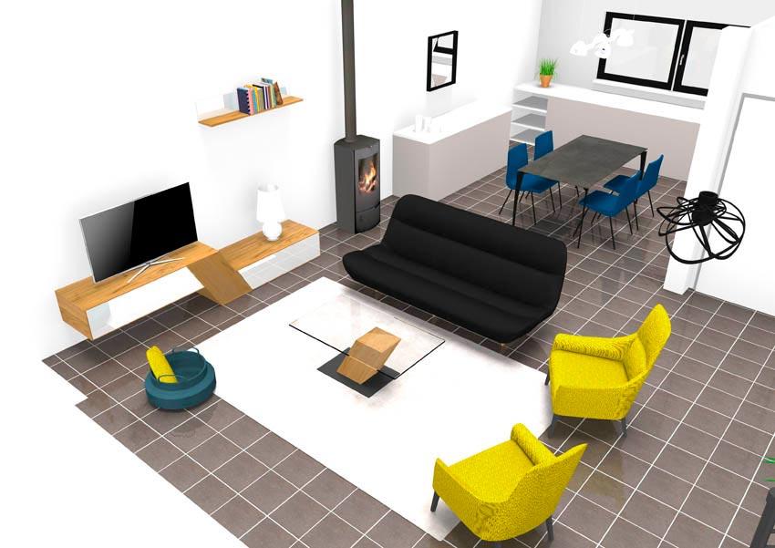 un petit espace simple et ouvert