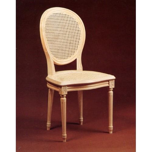 chaise louis xvi en hetre cannee