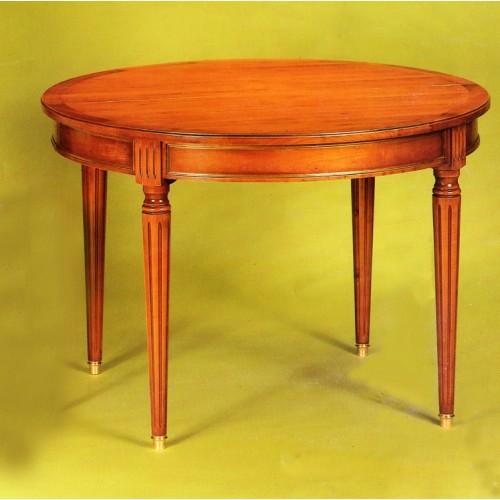 table ronde louis xvi en merisier