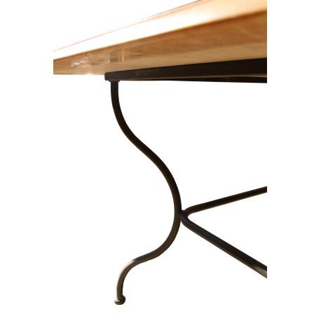 table en marbre zarcy vieilli avec pied en fer forge meubles en marbre