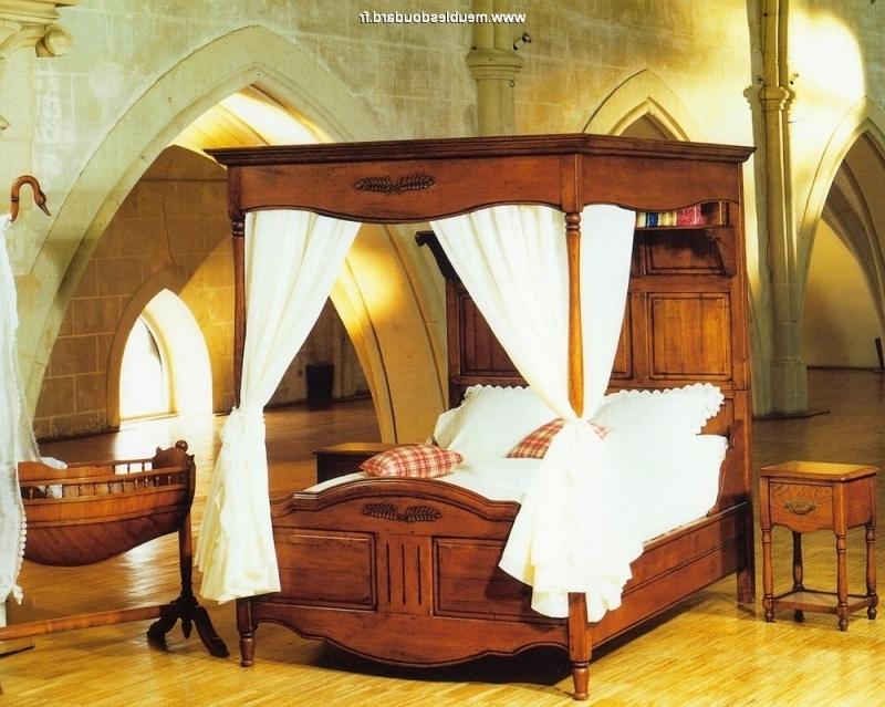 baldaquin lit en bois rustique