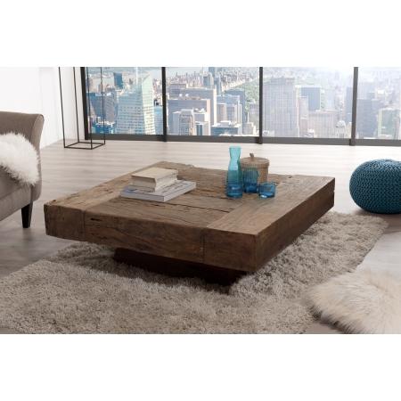 table basse carree bois massif