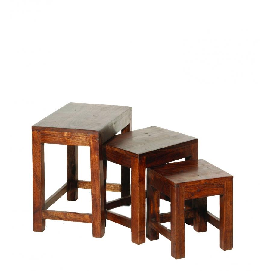Table Gigogne Indiana Acacia Meubles Macabane Meubles
