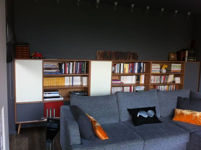 Bibliothque Sur Mesure En Mlamin Et Bois Massif Chne