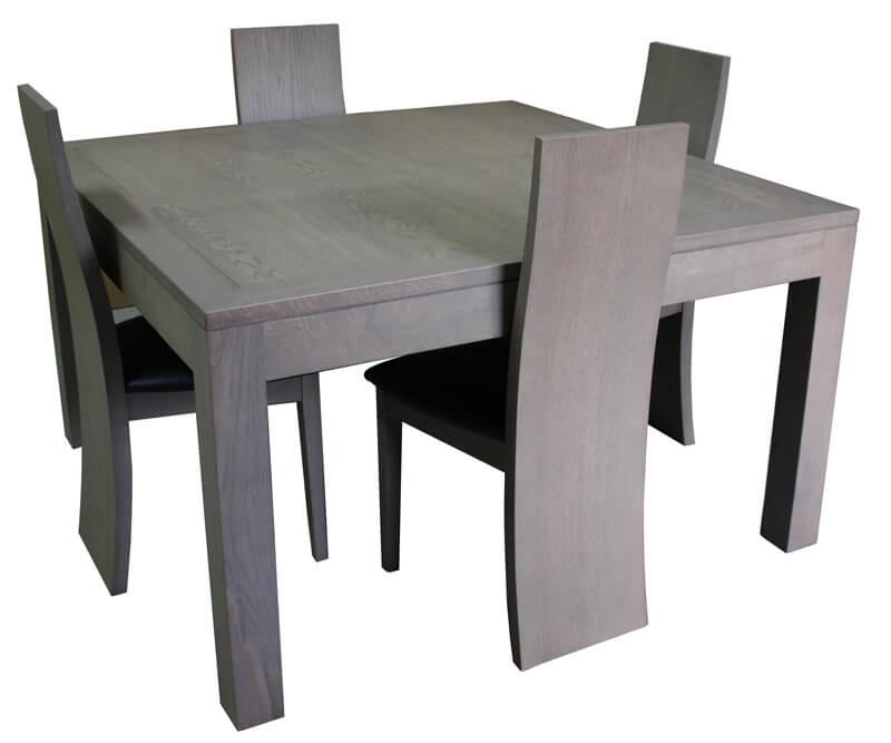 Table Repas Carre 1 Allonge Chne Gris