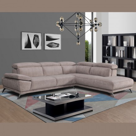canape d angle tissu gris clair madison