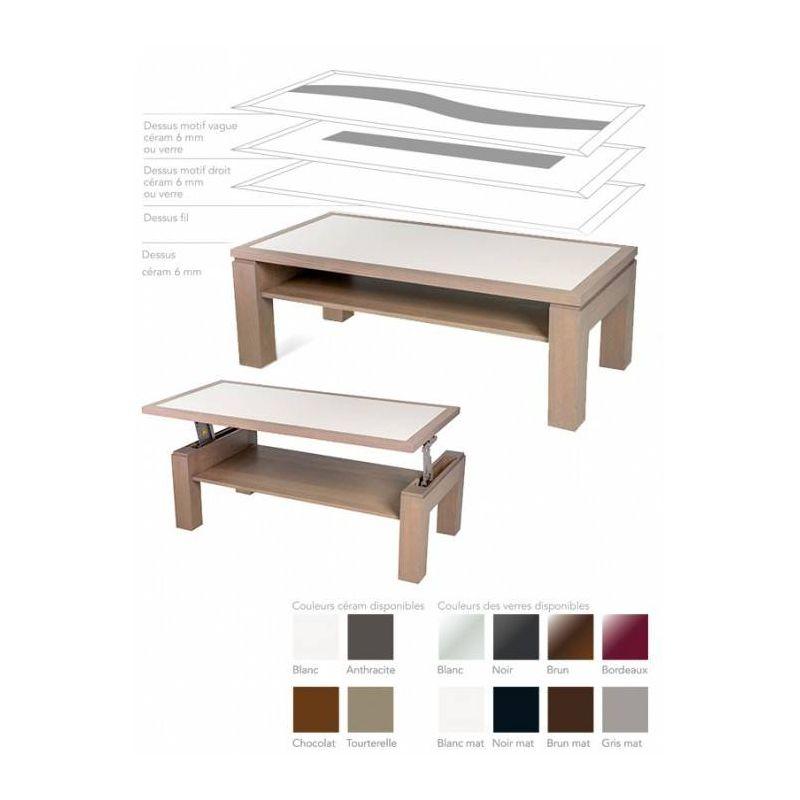 table dinette plateau bois ou ceram