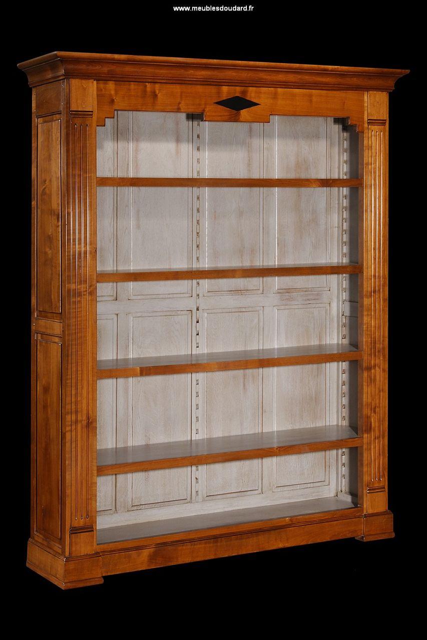 armoire bibliotheque directoire a etageres 1023