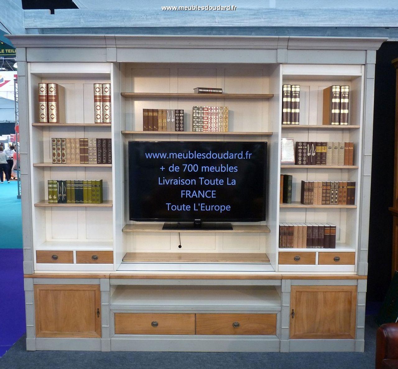 bibliotheque tv merisier kathia