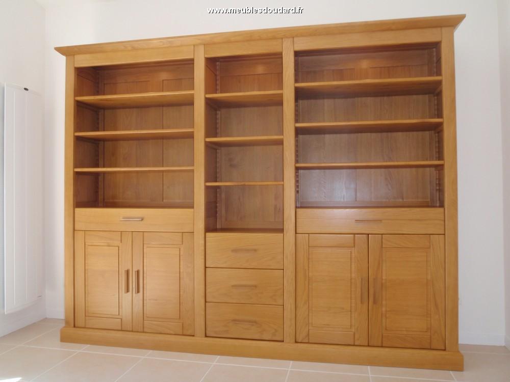 meuble bibliotheque moderne en chene naturel
