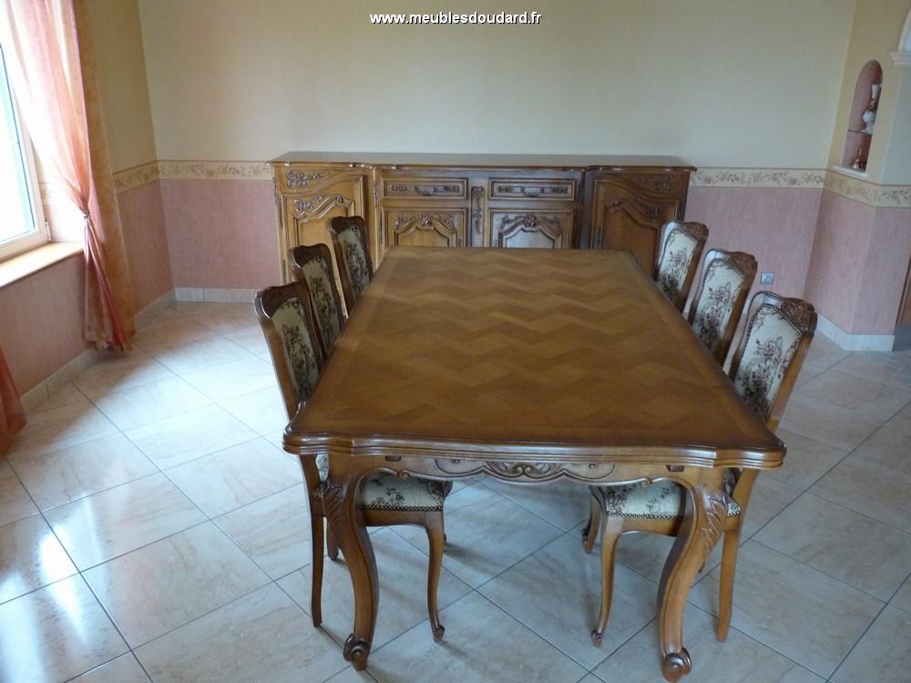 table rectangle louis xv en chene sculptee