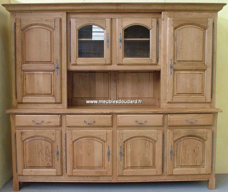 buffet vaisselier 4 portes ref abbaye chene