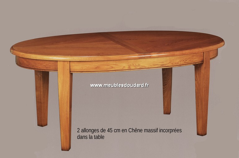 table ovale rustique en chene a rallonge ref gc 200 st chene massif