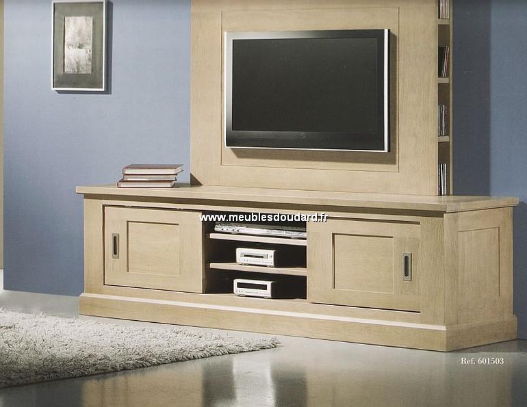 meuble television 2 portes coulissantes ref cristal