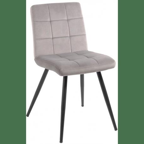 chaise tissu gris franklin casita