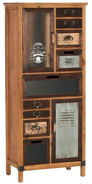 armoire 2 portes 8 tiroirs harold casita