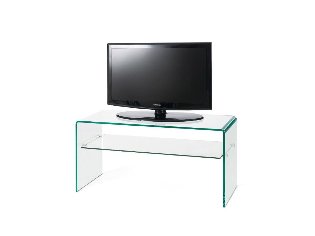 meuble tv verre 1 etagere a port de bouc