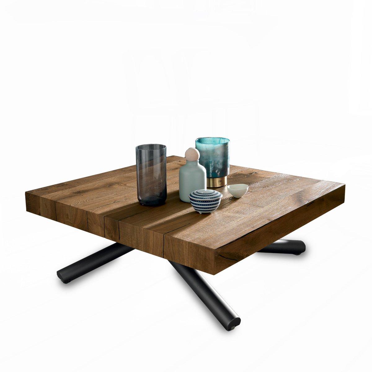 table basse relevable chene ancien