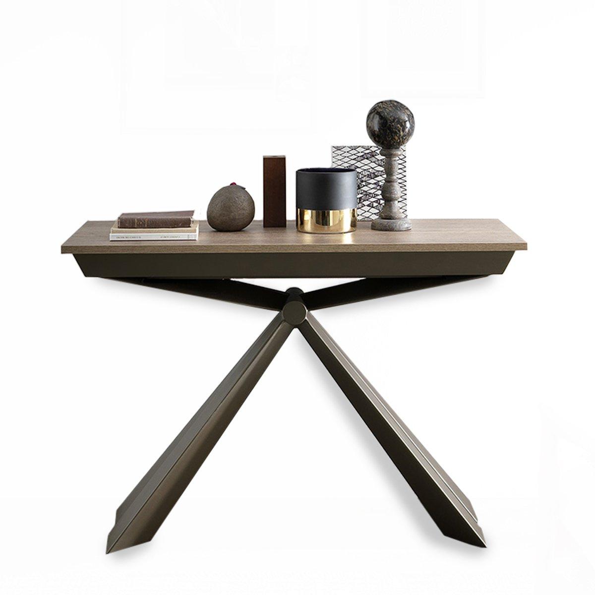 console extensible design bois metal